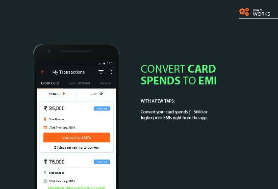 MoneyTap: Convert Card Spends to EMI